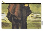 Fishermans Wife On The Beach Carry-all Pouch by Vincent Van Gogh
