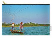 Fishermen Casting A Broad Net On Thu Bon River In Hoi An-vietnam Carry-all Pouch
