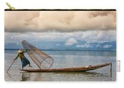 Fishermen In The Inle Lake. Myanmar Carry-all Pouch