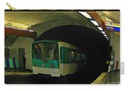 Fisheye View Of Paris Subway Train Carry-all Pouch