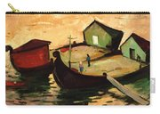 Fishing Barges On The River Sugovica Carry-all Pouch by Emil Parrag