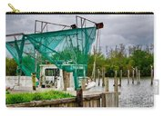 Fishing Boat And Pelicans On Posts Carry-all Pouch