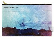 Fishing Boat As A Painting Carry-all Pouch