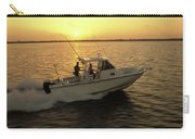 Fishing Boat Coming In At Sunset Carry-all Pouch
