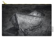 Fishing Boat On Shore In Black And White Carry-all Pouch