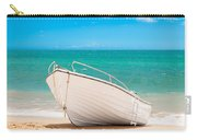 Fishing Boat On The Beach Algarve Portugal Carry-all Pouch by Amanda Elwell