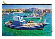 Fishing Boat On Turquoise Sea Carry-all Pouch