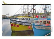 Fishing Boat Reflection In Branch-newfoundland-canada Carry-all Pouch