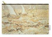 Fishing Boats At Saintes Maries De La Mer Carry-all Pouch by Vincent van Gogh