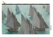 Fishing Boats Calm Sea Carry-all Pouch