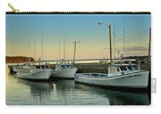 Fishing Boats In A Harbor Towards Evening On Prince Edward Island Carry-all Pouch