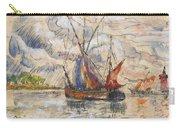 Fishing Boats In La Rochelle Carry-all Pouch by Paul Signac