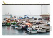 Fishing Boats Moored At A Harbor, Ponta Carry-all Pouch