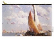 Fishing Craft With The Rivere Degli Schiavoni Venice Carry-all Pouch
