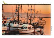Fishing Fleet Sunset Boat Reflection At Fishermans Wharf Morro Bay California Carry-all Pouch
