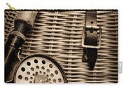 Fishing - Fly Fishing - Black And White Carry-all Pouch