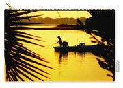 Fishing In Gold Carry-all Pouch by Karen Wiles