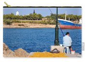 Fishing In Spetses Town Carry-all Pouch