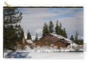 Fishing Lodge In The Winter Carry-all Pouch