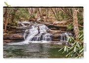 Fishing Mill Creek Falls In West Virginia Carry-all Pouch by Dan Friend