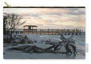 Fishing Pier And Driftwood Carry-all Pouch