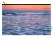 Fishing The Sunset Surf - Square Version Carry-all Pouch