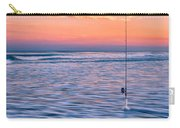 Fishing The Sunset Surf - Vertical Version Carry-all Pouch