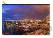 Fishing Village At Night, Lofoten Carry-all Pouch