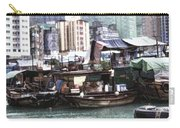 Fishing Village Digital Painting Carry-all Pouch