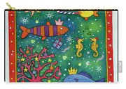 Fishy Christmas, 1997 Wc And Pastel On Paper Carry-all Pouch