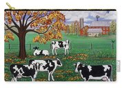 Five Black And White Cows Carry-all Pouch