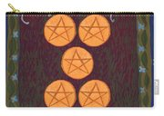 Five Of Pentacles Carry-all Pouch