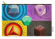 Five Platonic Solids - Fire Carry-all Pouch
