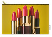 Five Red Lipstick Tubes On Pedestal Carry-all Pouch