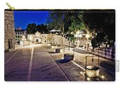 Five Well Square In Zadar Evening View Carry-all Pouch