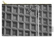Flag And Windows In Black And White Carry-all Pouch