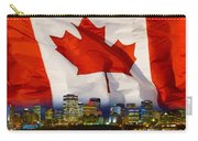 Flag Of Canada Over Albertas Capital Carry-all Pouch