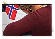 Flag Of Norway In Girls' Braided Hair Art Prints Carry-all Pouch