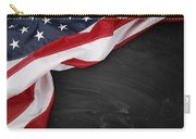 Flag On Blackboard Carry-all Pouch by Les Cunliffe