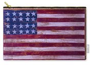 Flag On Old Yellow Door Carry-all Pouch