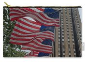 Flags At Rokefeller Plaza Carry-all Pouch