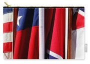 Flags Of The North And South Carry-all Pouch by Joe Kozlowski