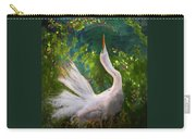 Flamboyant Egret Carry-all Pouch by Melinda Hughes-Berland