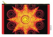 Flaming Celtic Sun Carry-all Pouch