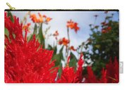 Flaming Feathered Flower Power Carry-all Pouch