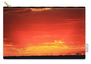 Flaming Ocean Carry-all Pouch