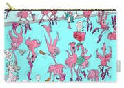 Flamingo A Go Go Carry-all Pouch