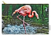 Flamingo Splash Two Carry-all Pouch