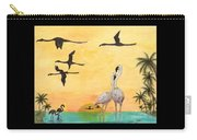 Flamingo Sunset Silhouette Cathy Peek Tropical Birds  Carry-all Pouch