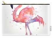 Flamingo Watercolor Carry-all Pouch